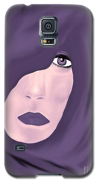 Galaxy S5 Case featuring the painting Lady In Purple by Lori  Lovetere