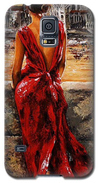 Lady In Red  34 -  I Love Budapest Galaxy S5 Case