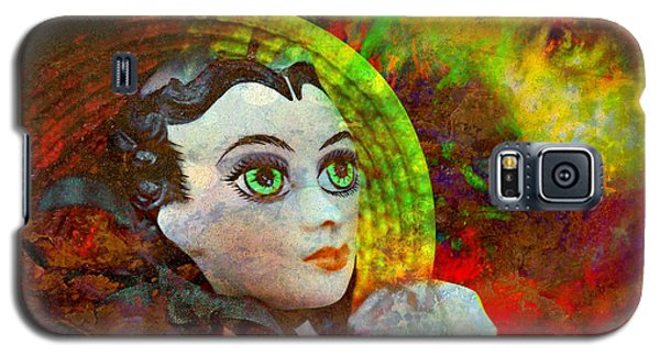 Galaxy S5 Case featuring the mixed media Lady In Red by Ally  White