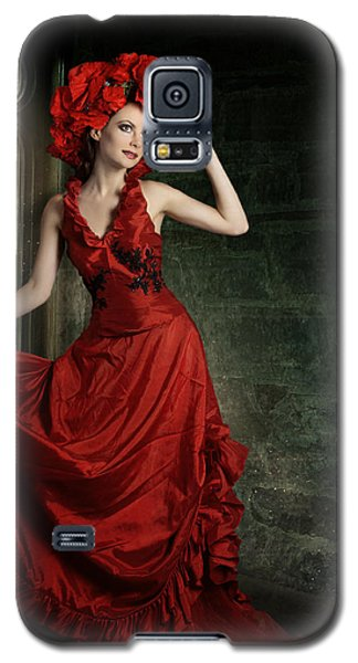 Lady In Red Galaxy S5 Case by Ester  Rogers