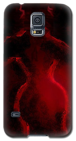 Galaxy S5 Case featuring the digital art Lady In Red by Martina  Rathgens