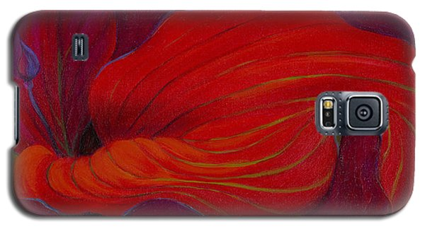 Galaxy S5 Case featuring the painting Lady In Red by Sandi Whetzel