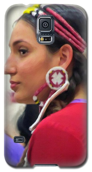 Galaxy S5 Case featuring the digital art Lady In Red by Spyder Webb