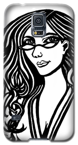 Lady In Thought Galaxy S5 Case