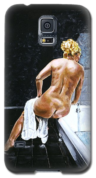 Galaxy S5 Case featuring the painting Lady In Waiting by Ron Haist