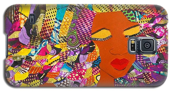 Galaxy S5 Case featuring the tapestry - textile Lady J by Apanaki Temitayo M
