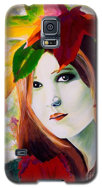 Galaxy S5 Case featuring the painting Lady Leaf by Denise Deiloh