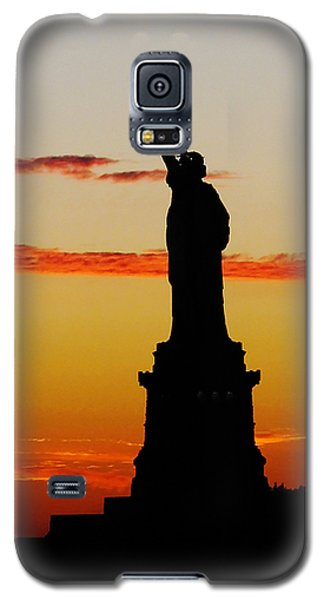 Lady Liberty At Sunset Galaxy S5 Case
