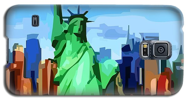 Galaxy S5 Case featuring the digital art Lady Liberty by P Dwain Morris