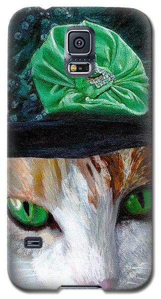 Lady Little Girl Cats In Hats Galaxy S5 Case