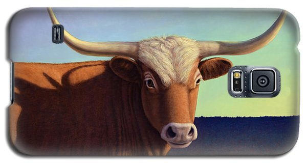 Bull Galaxy S5 Case - Lady Longhorn by James W Johnson