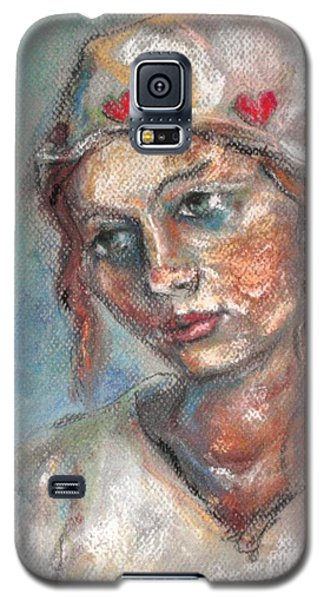 Lady Of Hearts Galaxy S5 Case by Carrie Joy Byrnes