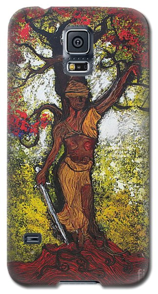 Lady Of Justice Galaxy S5 Case