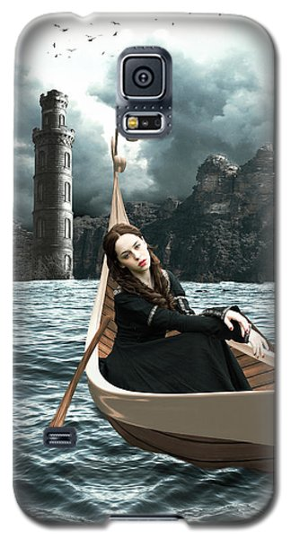 Lady Of Llyn-y-fan Fach Galaxy S5 Case by Linda Lees