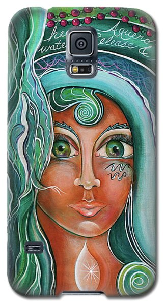 Galaxy S5 Case featuring the painting Lady Of Lourdes Madonna by Deborha Kerr