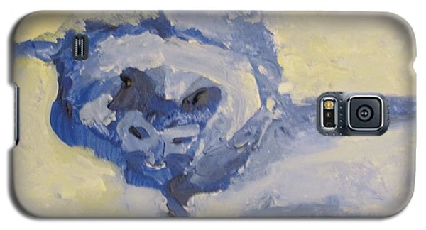 Galaxy S5 Case featuring the painting Lady On The Coach  by Shea Holliman