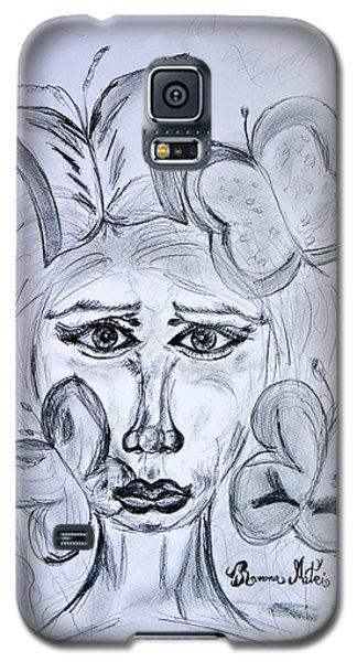 Lady Queen Of Butterflies Galaxy S5 Case