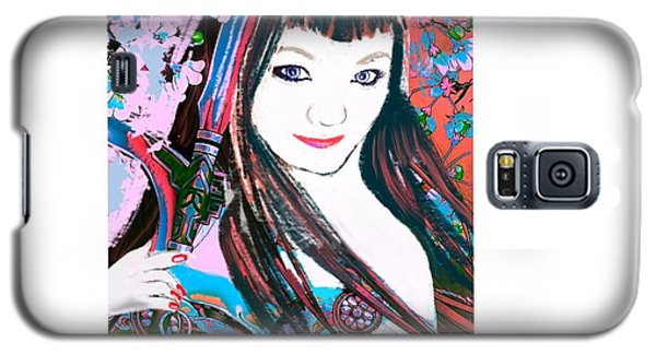 Galaxy S5 Case featuring the digital art Lady Samurai by Diana Riukas