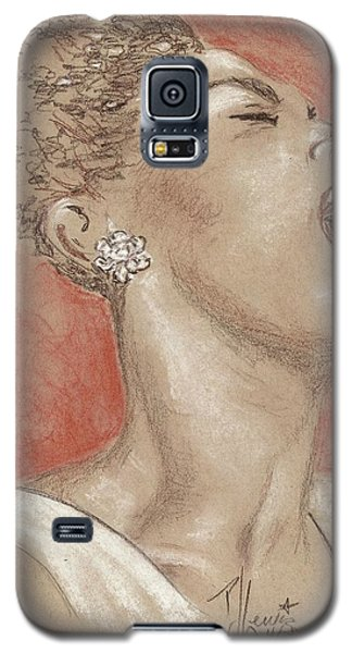 Lady Sings The Blues Galaxy S5 Case by P J Lewis