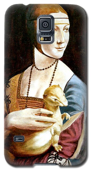 Galaxy S5 Case featuring the painting Lady With An Ermine by Henryk Gorecki