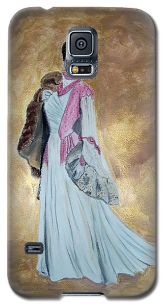Lady With Fur Galaxy S5 Case