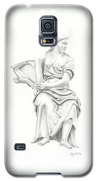 Lady With Harp II Galaxy S5 Case