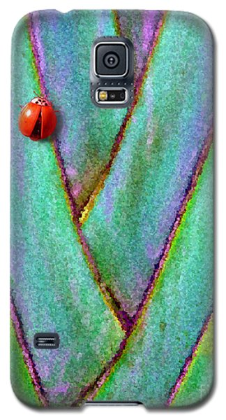 Galaxy S5 Case featuring the photograph Ladybug On Palm by Mariarosa Rockefeller