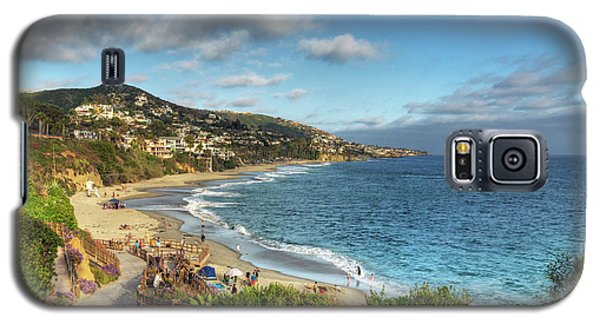 Laguna Beach Shoreline Galaxy S5 Case by Eddie Yerkish