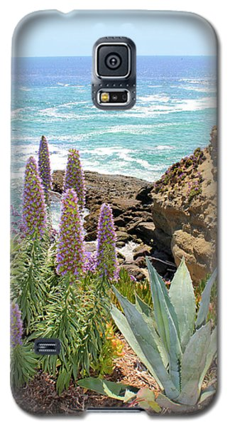 Laguna Coast With Flowers Galaxy S5 Case