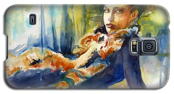 Galaxy S5 Case featuring the painting Laidback by P Maure Bausch