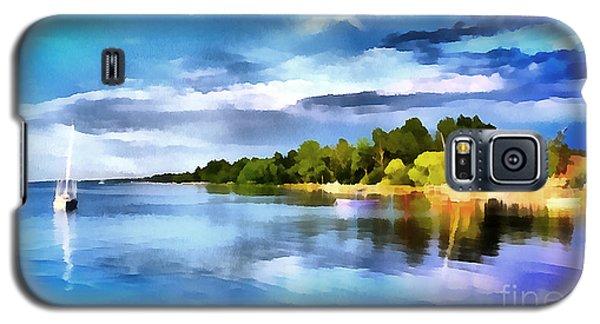 Lake Balaton At Summer Galaxy S5 Case by Odon Czintos
