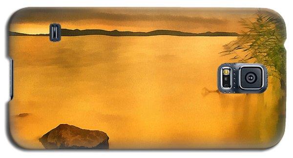 Lake Balaton Sunset Paint Galaxy S5 Case
