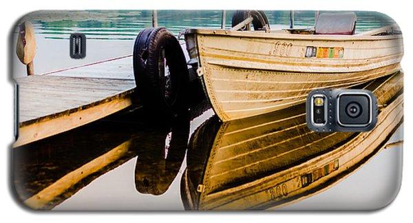 Lake Boat Reflection Galaxy S5 Case