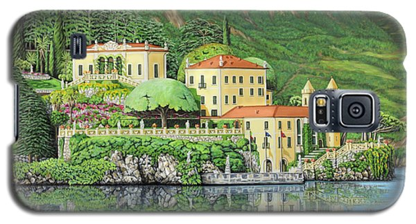 Galaxy S5 Case featuring the painting Lake Como Morning by Jane Girardot