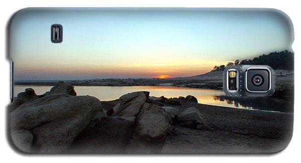 Galaxy S5 Case featuring the photograph Lake Folsom California Rocky Sunset by Polly Peacock