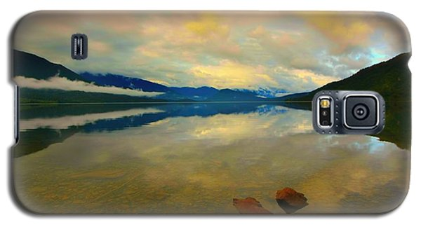 Galaxy S5 Case featuring the photograph Lake Kaniere New Zealand by Amanda Stadther