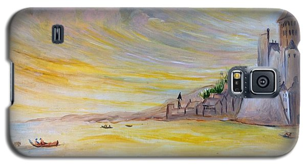 Galaxy S5 Case featuring the painting Lake Landscape by Egidio Graziani