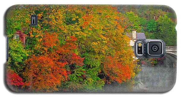 Galaxy S5 Case featuring the photograph Lake Lure Autumn by Marion Johnson