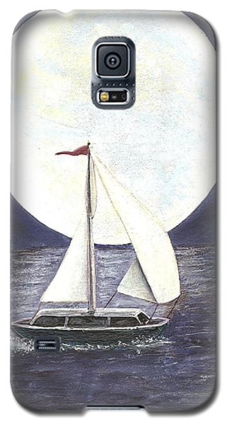 Lake Michigan Full Moon Galaxy S5 Case