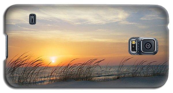 Lake Michigan Sunset With Dune Grass Galaxy S5 Case