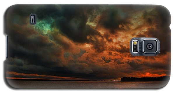 Lake Murray Fire Sky Galaxy S5 Case by Steven Richardson