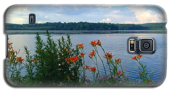 Lake Muscenetcong And Wild Flowers In Netcong New Jersey Galaxy S5 Case by Becky Lupe