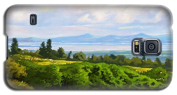 Galaxy S5 Case featuring the painting Lake Naivasha From Home by Anthony Mwangi