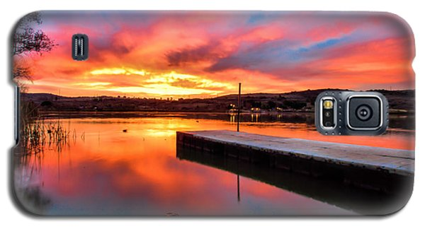 Galaxy S5 Case featuring the photograph Lake Oneil Sunset by Robert  Aycock