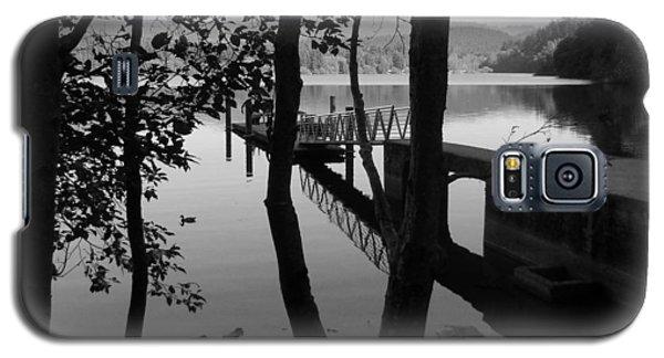 Lake Padden Reflection In Black And White Galaxy S5 Case by Karen Molenaar Terrell