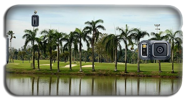 Lake Sand Traps Palm Trees And Golf Course Singapore Galaxy S5 Case