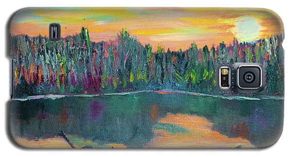 Lake Schwartzwood Sunset Galaxy S5 Case