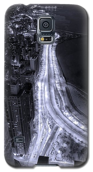 Lake Shore Drive Aerial  B And  W Galaxy S5 Case by Steve Gadomski