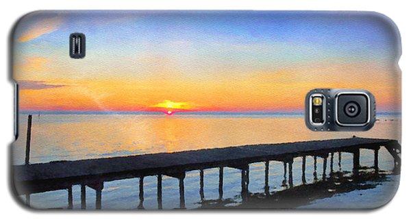 Lake Sunrise - Watercolor Galaxy S5 Case