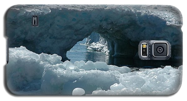 Galaxy S5 Case featuring the photograph Lake Superior Ice Bridge by Sandra Updyke